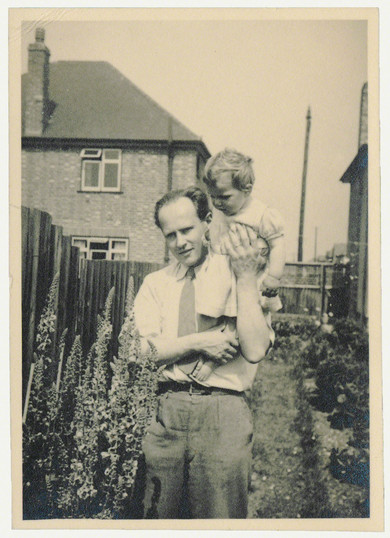 Frederick R. Eirich with his daughter Ursula