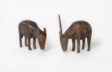Wooden figures: two antelopes of Stefanie Zweig